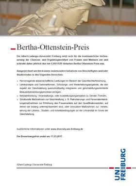 Bertha-Ottenstein-Preis wieder ausgeschrieben