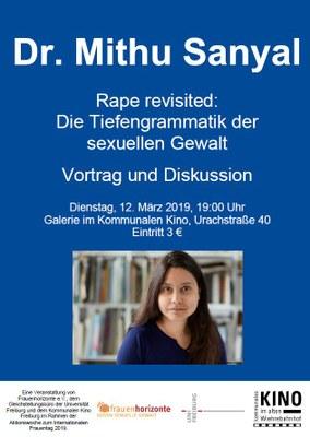 Einladung zum Vortrag mit Dr. Mithu Sanyal am 12. März 2019
