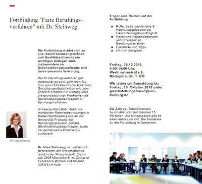"Jetzt anmelden: Fortbildung ""Faire Berufungsverfahren"" am 26. Oktober 2018"
