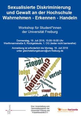 Jetzt anmelden: Workshop für Student*innen am 19. Juli 2018